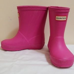 Hunter pink boots- Toddler- Size 6